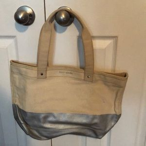 Kate spade thick canvas tote